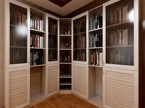 转角组合书柜